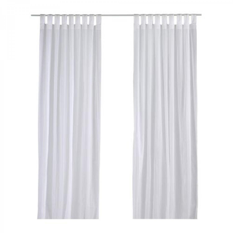 Ikea Matilda Curtains Drapes White On White Dotted Stripes