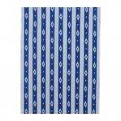 IKEA SOMMAR 2016 Fabric Material IKAT Blue White Stripe 1 Yd Nautical Summer Ocean Indigo