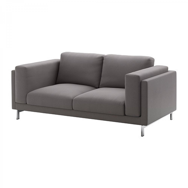 IKEA Nockeby 2 Seat Sofa SLIPCOVER Loveseat Cover RISANE GRAY Grey