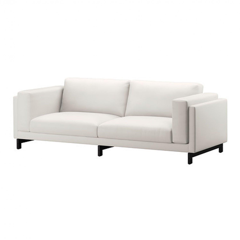 IKEA Nockeby 3 Seat Sofa SLIPCOVER Cover RISANE WHITE Linen Blend