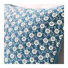 IKEA Lovkoja PILLOW SHAM Cushion Cover BLUE White Floral LÖVKOJA Polka Dots