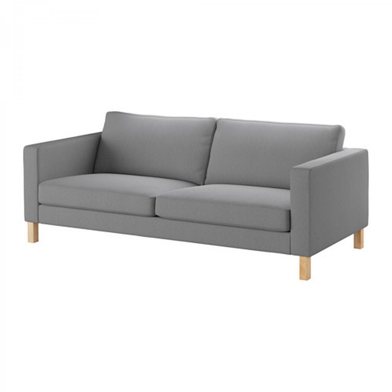 IKEA Karlstad 3 Seat Sofa SLIPCOVER Cover KNISA LIGHT GRAY Grey