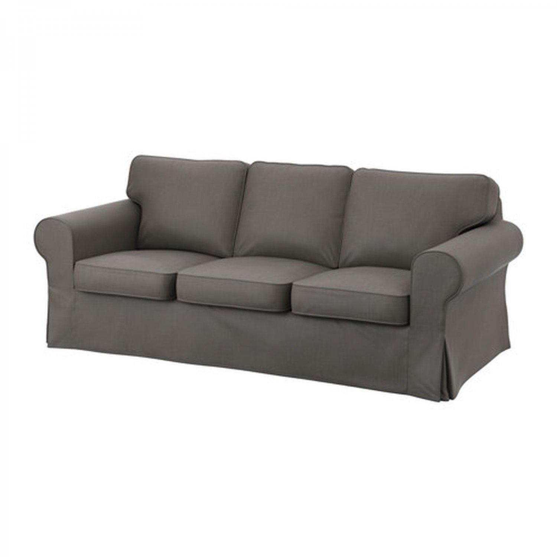 IKEA Ektorp 3 Seat Sofa COVER Slipcover NORDVALLA GRAY Grey