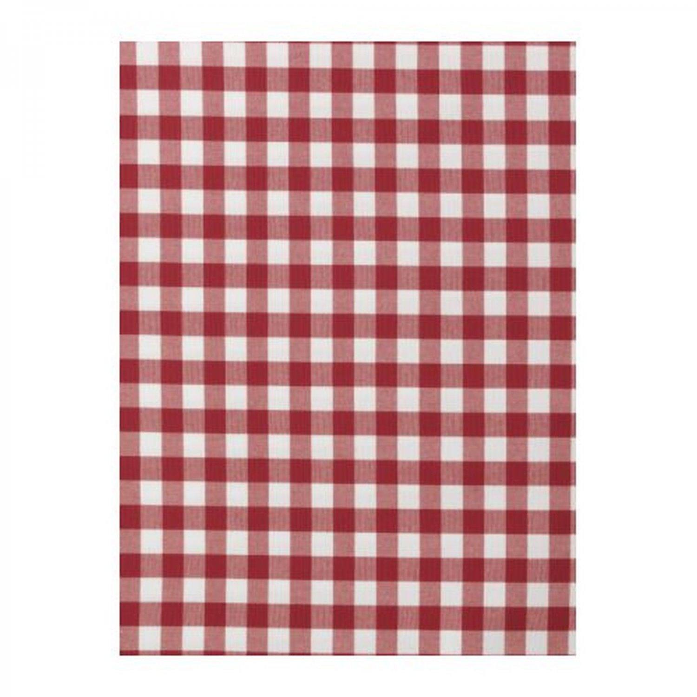 Ikea berta ruta fabric material medium check red white 1 - Tessuto a metraggio ikea ...