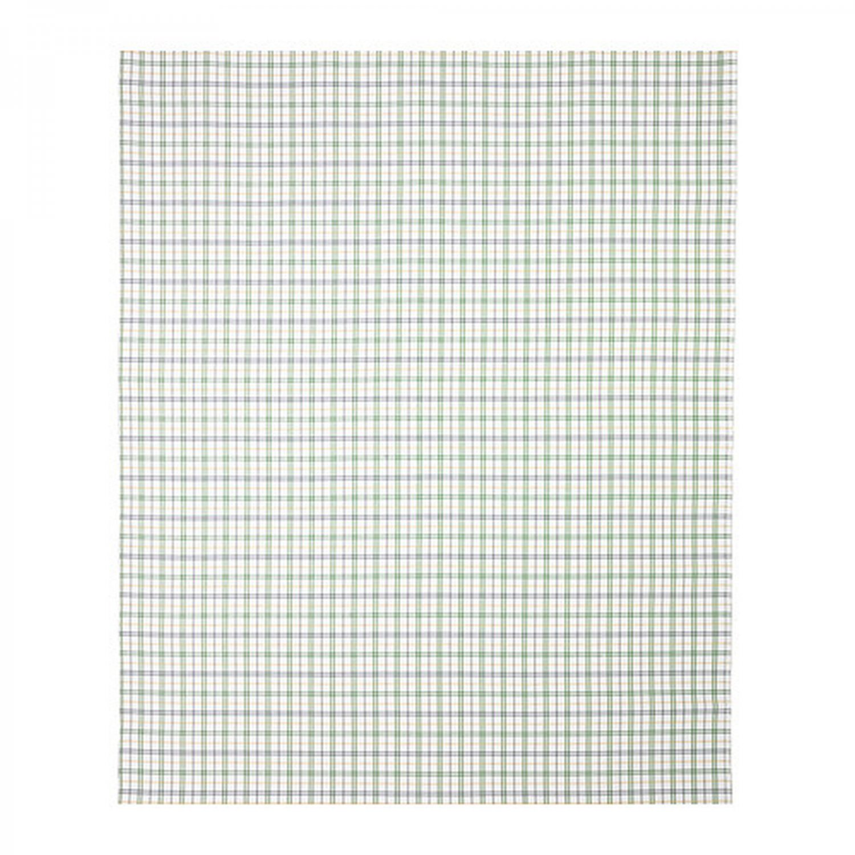 ikea gunita fabric material green blue gray 1 yd multicolor big check plaid tartan. Black Bedroom Furniture Sets. Home Design Ideas