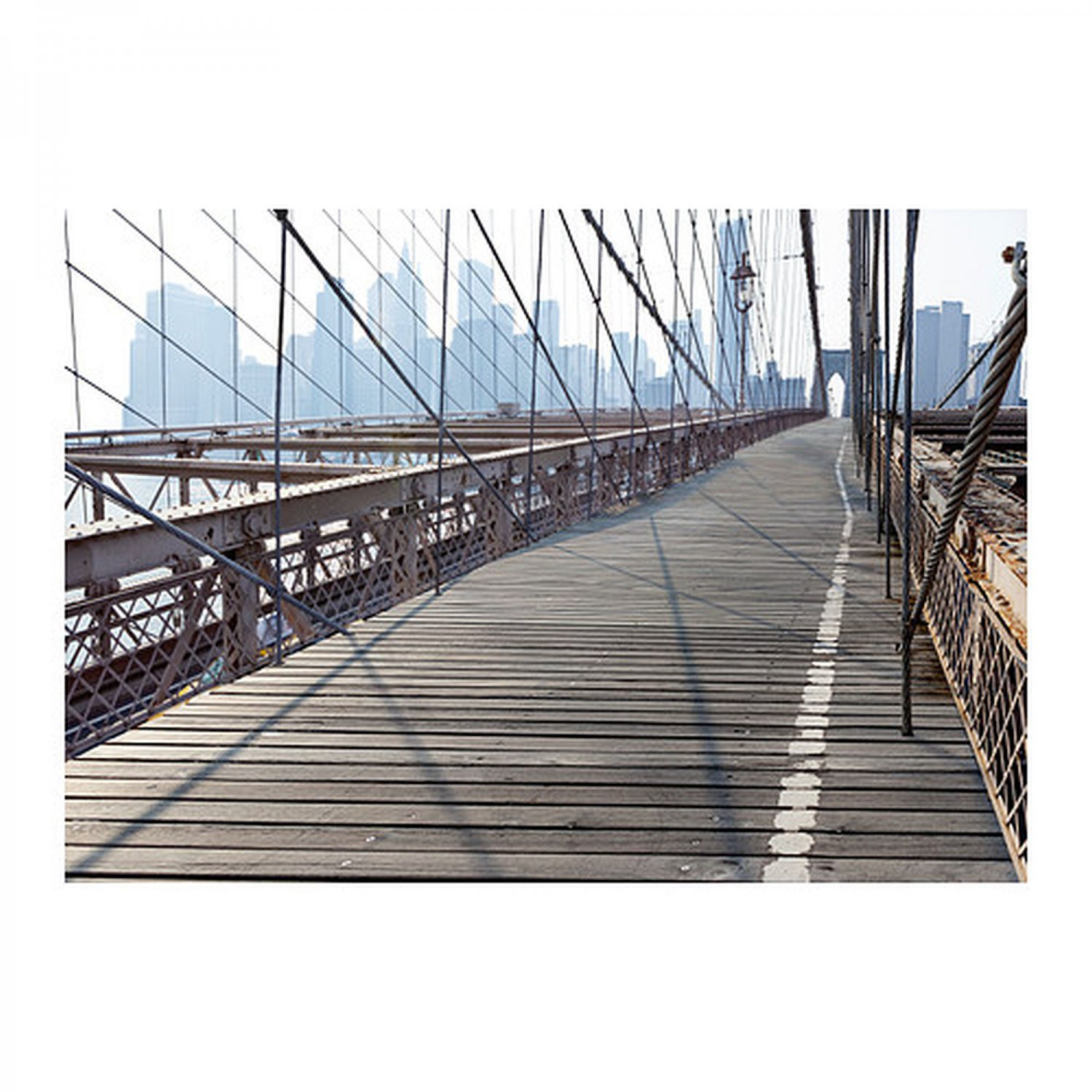 Ikea premiar brooklyn bridge canvas wall art print huge ny for Art and craft store in brooklyn ny