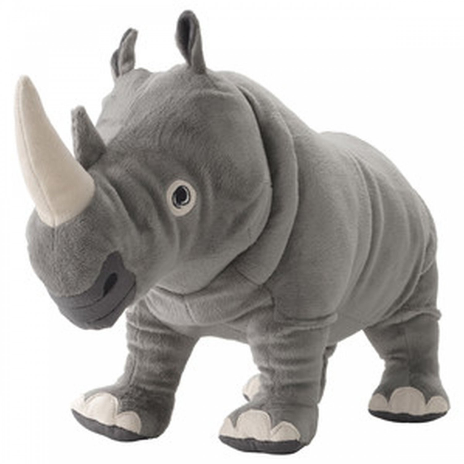 IKEA Onskad RHINO Rhinoceros Soft Plush Toy Gray �NSKAD Animal Xmas