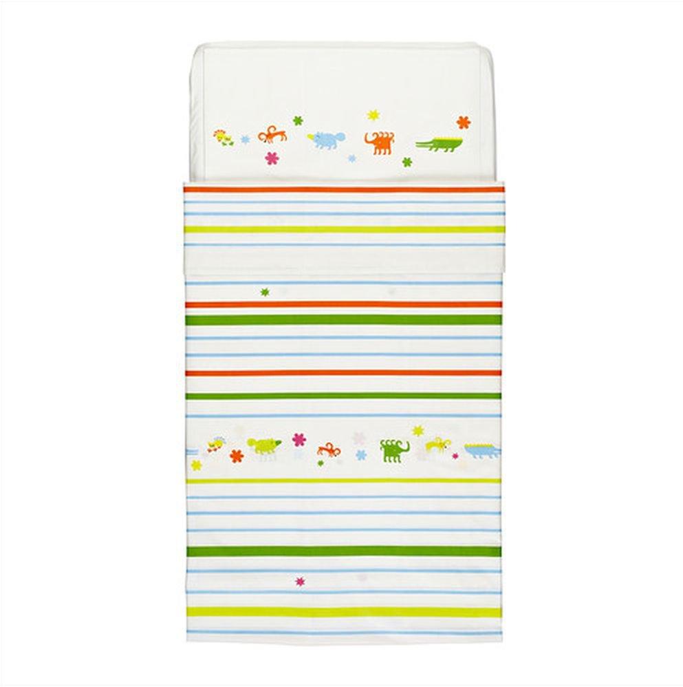 IKEA Fantasidjur CRIB Duvet COVER Pillowcase SET Animals Stripes Nursery Bedding Unisex Multicolor