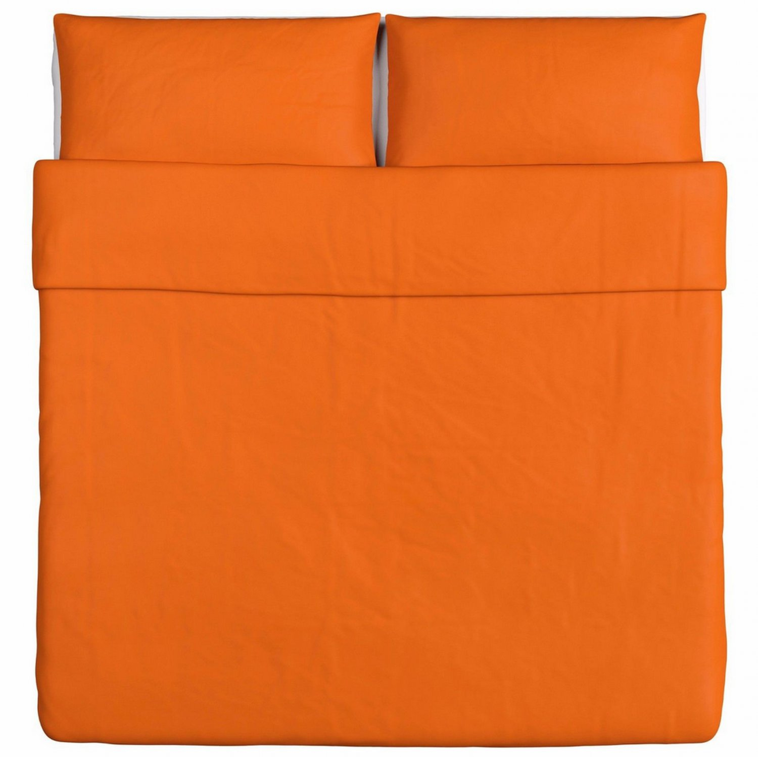 IKEA Dvala KING Duvet COVER Pillowcases Set ORANGE Cotton Fall Autumn Halloween