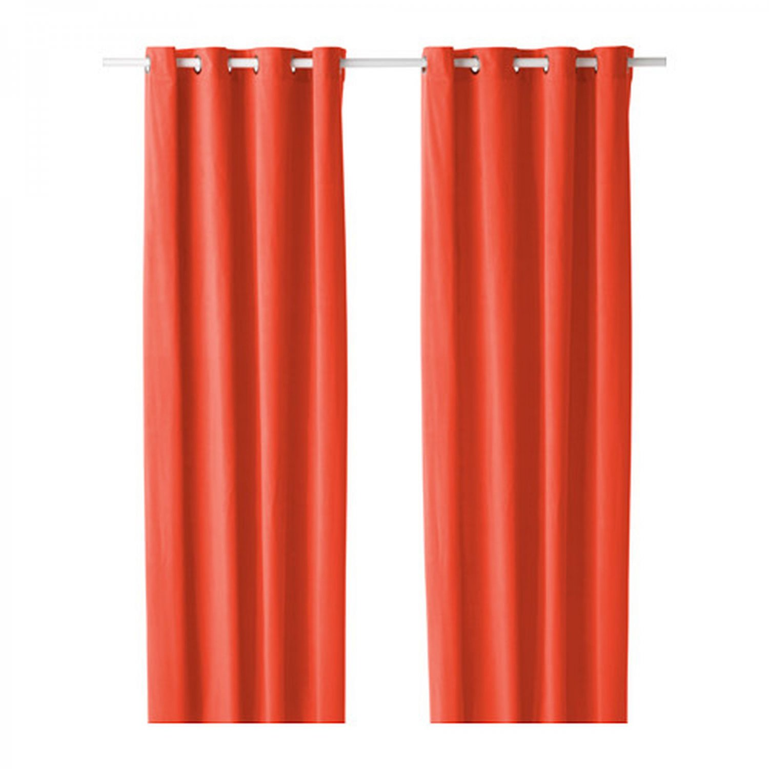 ikea sanela curtains drapes 2 panels orange velvet 98 grommet eyelet top. Black Bedroom Furniture Sets. Home Design Ideas