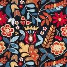 IKEA Tigeroga Fabric Material Scandinavian Country Floral Tolle 1 Yd TIGERÖGA