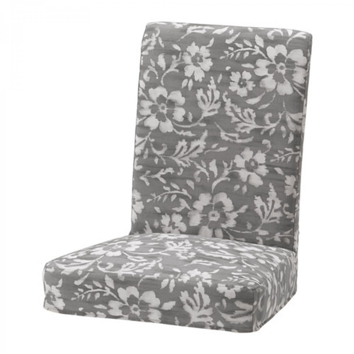 "IKEA HENRIKSDAL Chair SLIPCOVER Cover 21"" 54cm HOVSTEN Gray Floral Blurred Lines"