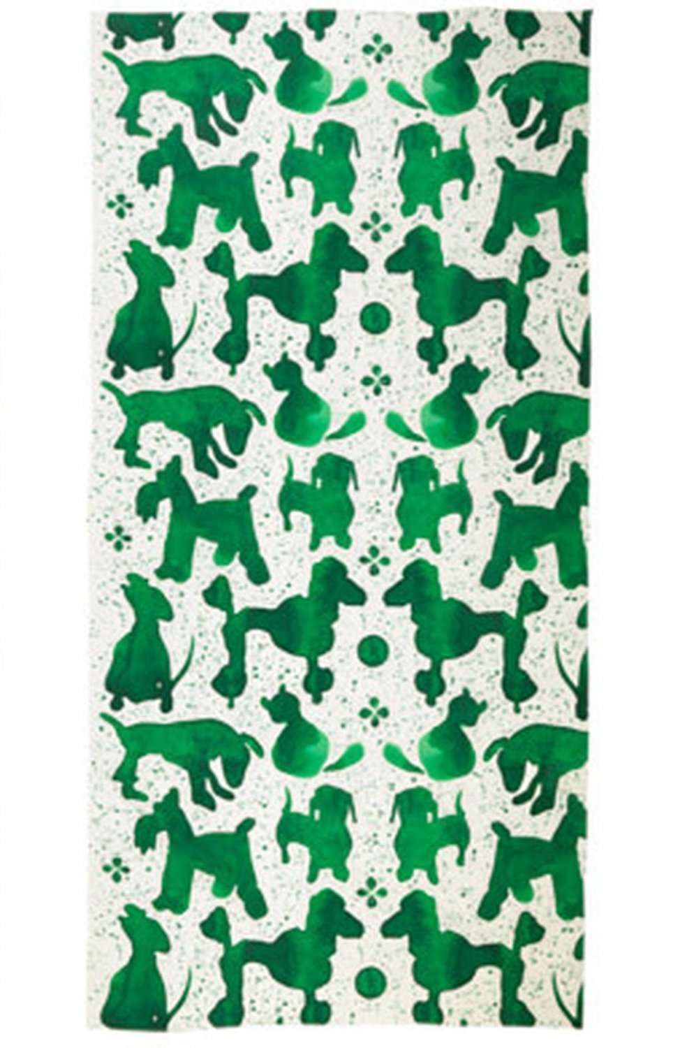 IKEA Sallskap Fabric Material DOGS Dots 3.25 Yd S�LLSKAP Green Cats Pre-cut