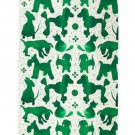 IKEA Sallskap Fabric Material DOGS Dots 3.25 Yd SÄLLSKAP Green Cats Pre-cut
