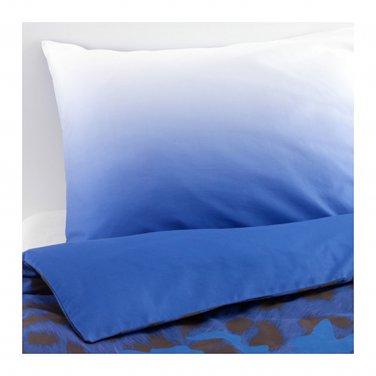 IKEA Giltig QUEEN Full Duvet COVER Pillowcases Set BLUE Black KATIE EARY Modern Art Camo Double