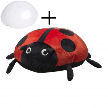 IKEA Sagosten LADYBUG Ladybird RED Cushion COVER and AIR PILLOW INSERT Kids