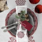 IKEA Vinter 2015 TABLECLOTH Red White Cotton Traditional Swedish Xmas Design