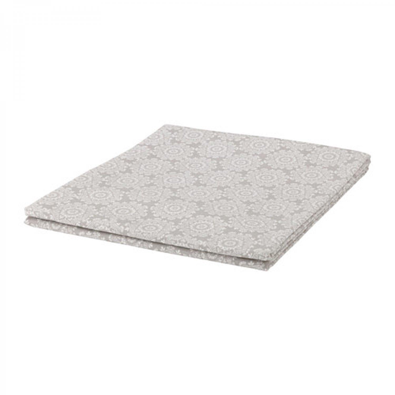 IKEA Vinter 2015 TABLECLOTH Gray White Cotton Snowflake Xmas Design