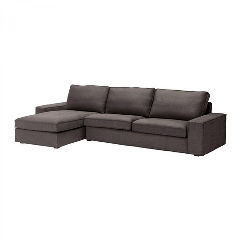 IKEA Kivik 3 Seat Sofa w Chaise SLIPCOVER Cover TULLINGE GRAY-BROWN Grey Brown