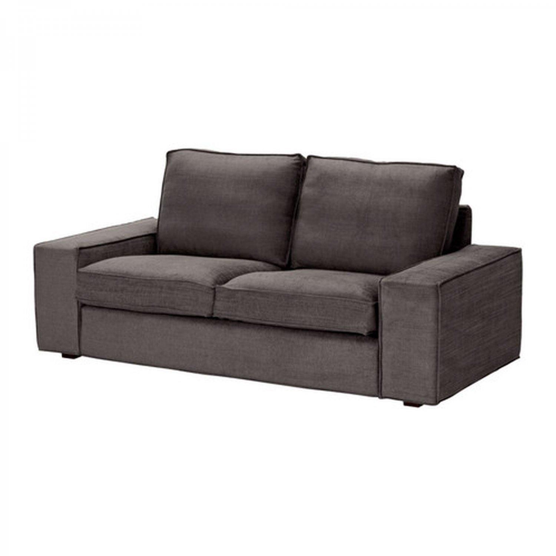 ikea kivik 2 seat loveseat sofa slipcover cover tullinge gray brown grey bezug housse. Black Bedroom Furniture Sets. Home Design Ideas