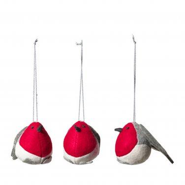 IKEA VINTER 2016 Birds Xmas Decorations Holiday Ornaments Gray Red Robin Wren Songbird