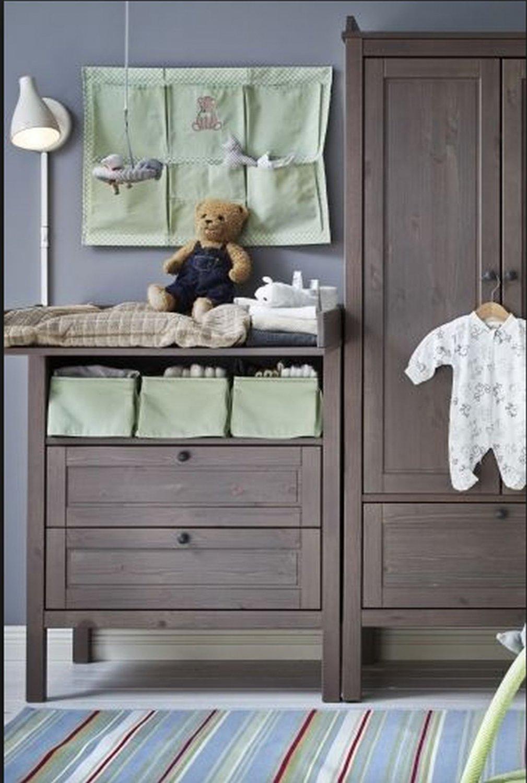 IKEA Nanig Wall Pocket LIGHT GREEN Baby Nursery Hanging Storage Unisex Girl Boy Baby Gingham
