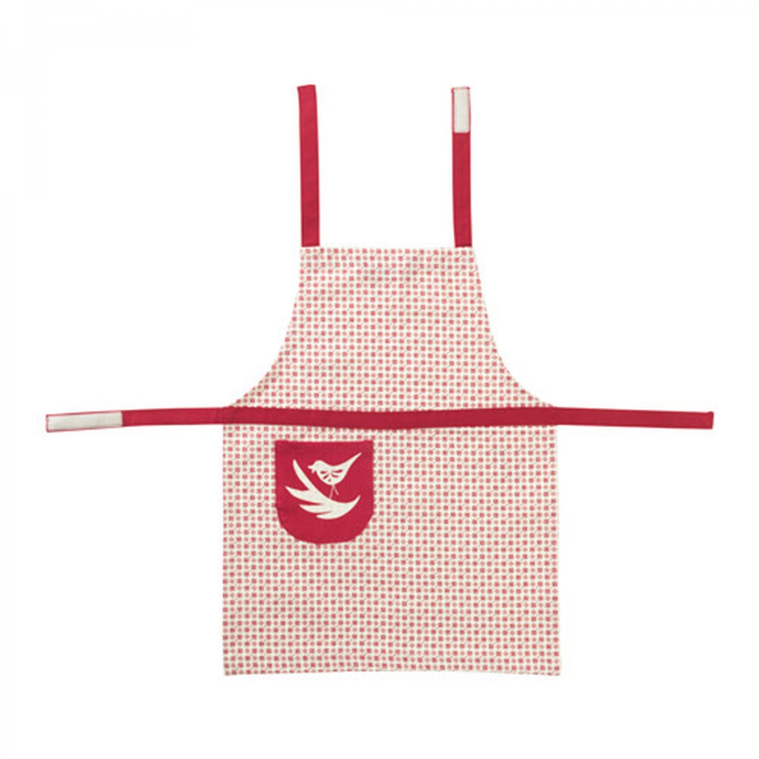 IKEA Vinter 2016 Child's Chef's Bib Apron RED White Toddler Unisex Xmas BIRD Snowflakes