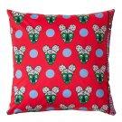 IKEA Glodande Cushion Cover EURO Pillow Sham 20 x 20 GLÖDANDE RED Bears Faces Dots WONDERMOOI