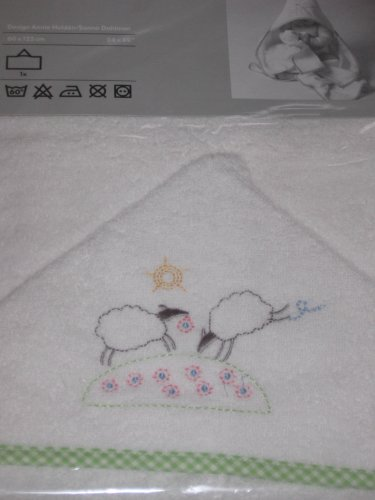 IKEA Minnen Lamm Baby Towel with Hood LAMB White ADORABLE