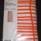 IKEA ODESTRAD TWIN Single Duvet COVER Pillowcase Set ORANGE Lines ÖDESTRÄD