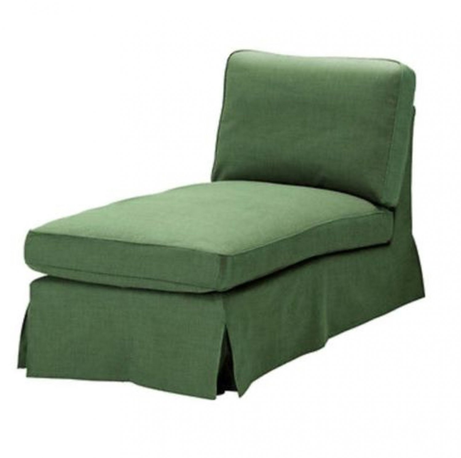 Ikea ektorp chaise longue cover slipcover svanby green for Chaise longue cover