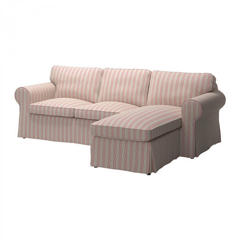 Ikea Ektorp Loveseat Sofa W Chaise Lounge Cover 3 Seat