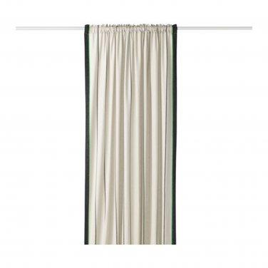 """IKEA Anvandbar CURTAINS Drapes 2 Panels 98"""" ANV�NDBAR Natural Beige Linen Blend GREEN"""