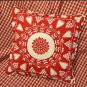 IKEA Snoa Flinga Fabric Snowflake Winter RED Scandinavian XMAS 1 Yd Tolle