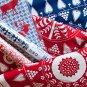 IKEA Snoa Flinga Fabric Snowflake Winter BLUE Scandinavian XMAS 1 Yd Tolle