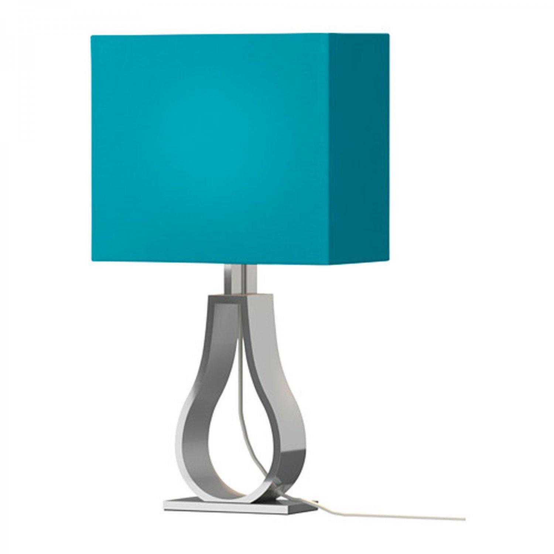 IKEA KLABB Table Lamp Turquoise Blue Modern Aluminum Base Architectural