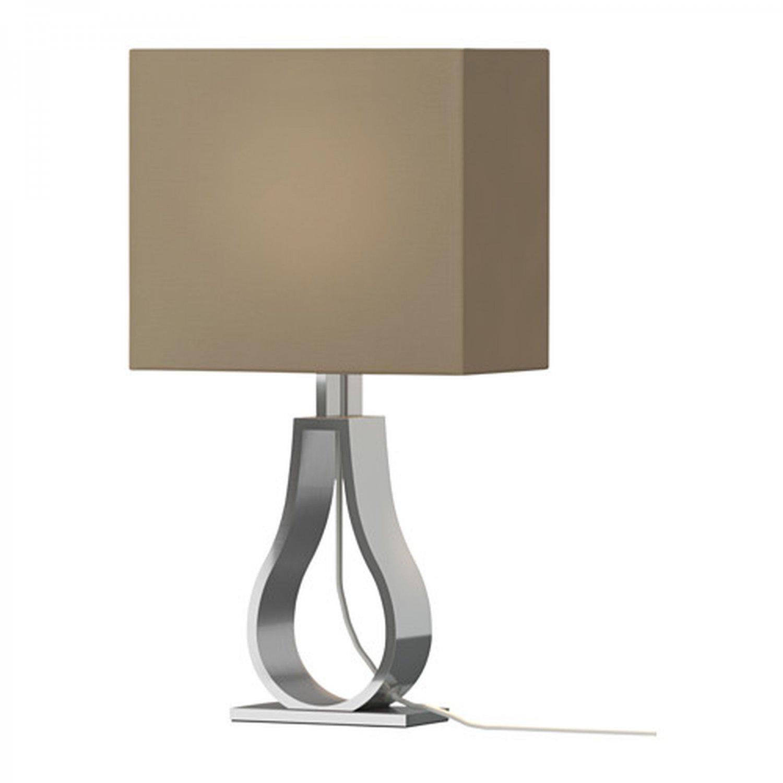 IKEA KLABB Table Lamp Light Brown Modern Aluminum Base Architectural