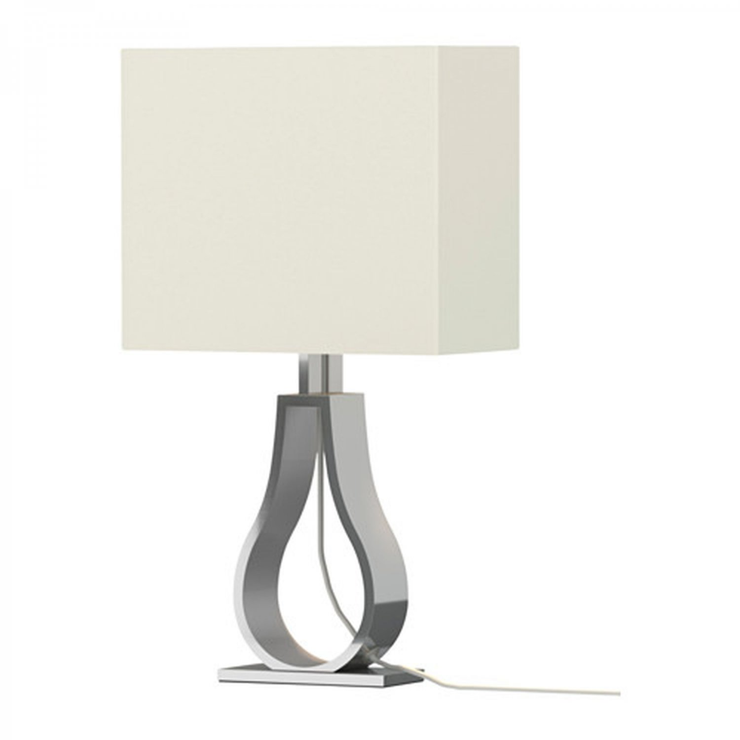 IKEA KLABB Table Lamp Off-White Modern Aluminum Base Architectural Warm Off White