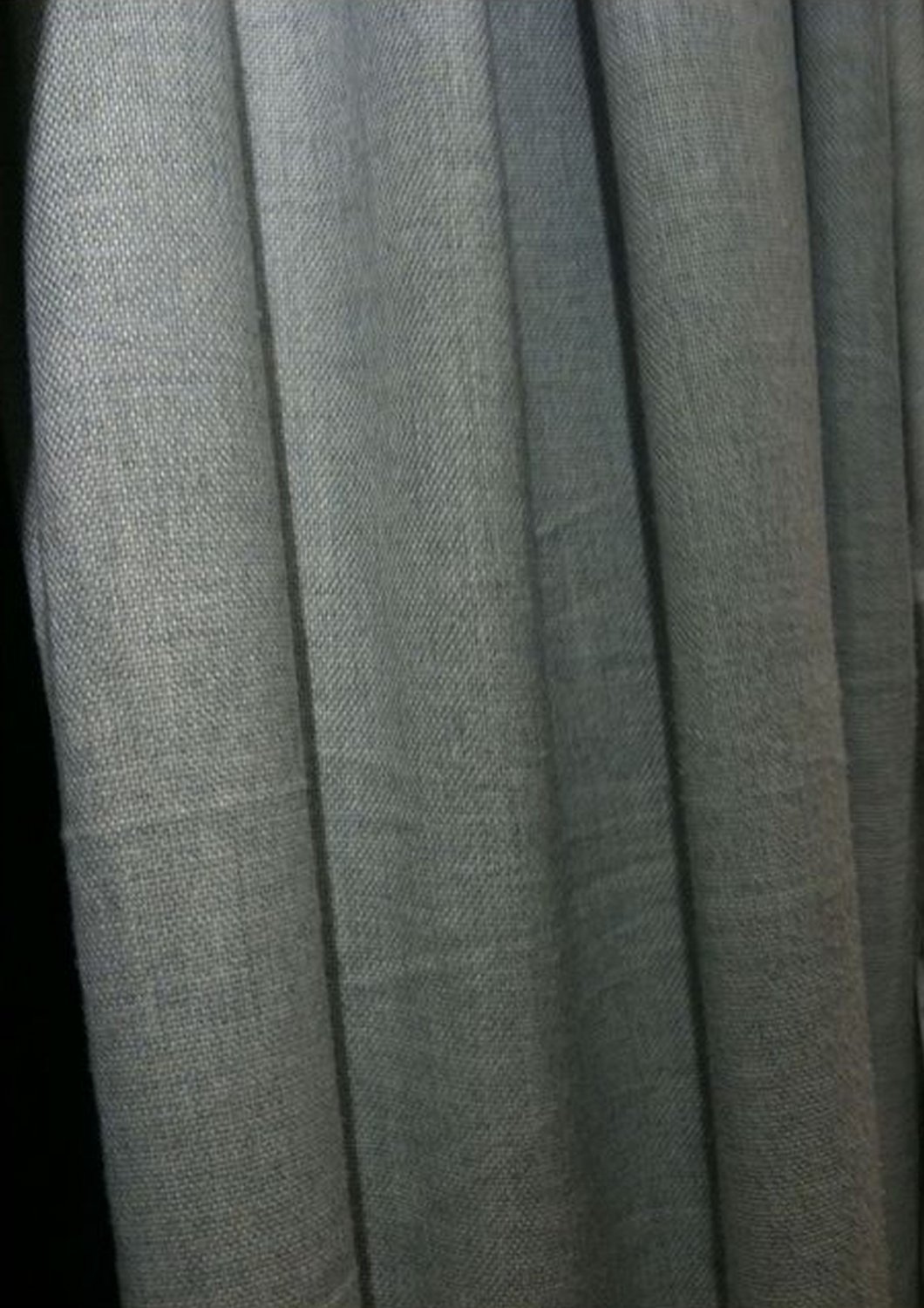 """IKEA Ransby CURTAINS Drapes GREEN 2 Panels HEAVY TEXTURE Grommetted MODERN 98"""" Long"""