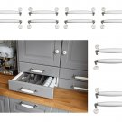 "IKEA Lindsdal Set of 12 Drawer HANDLES Cabinet Pulls WHITE PORCELAIN Nickel Color 5 3/4"" PAX"