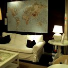 IKEA  Premiar WORLD MAP Canvas WALL ART Print and Frame HUGE PREMIÄR Last One