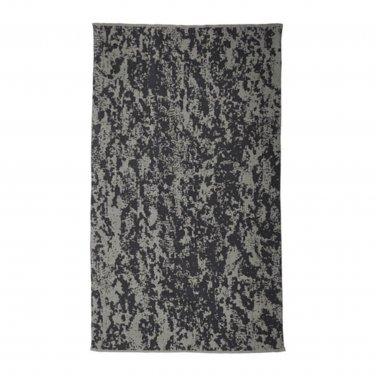 "IKEA Svartan Area RUG Mat Black Gray WOOL Modern Art SV�RTAN Flatwoven Reversible 5 ' 7 ""x9 ' 10 """