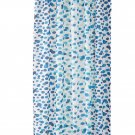 IKEA Skorren Fabric SHOWER Curtain BLUE White Turquoise Green Dots Spots