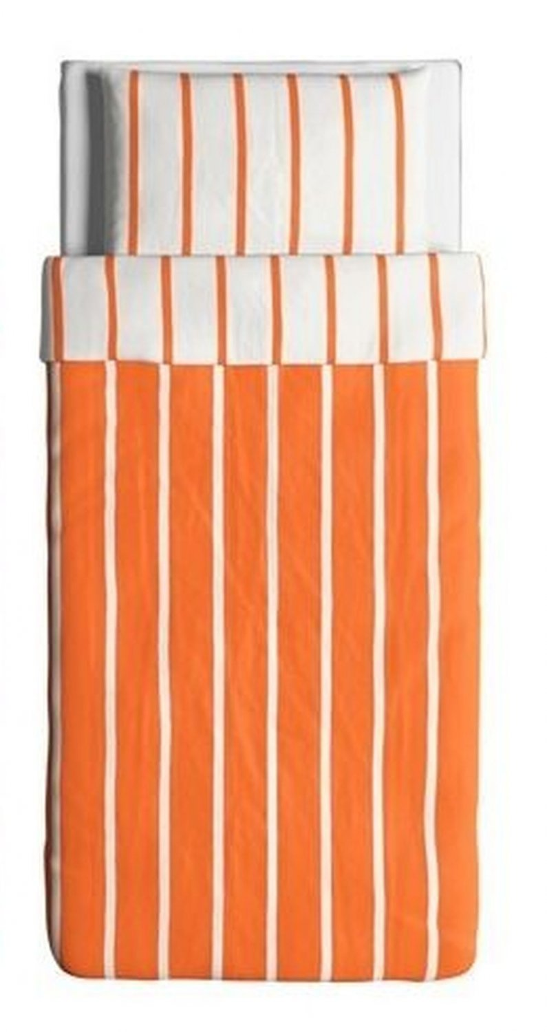 Ikea Tuvbracka Twin Duvet Cover Pillowcase Set Orange