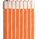 IKEA Tuvbracka TWIN Duvet COVER Pillowcase Set ORANGE White Stripe TUVBRÄCKA