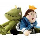 IKEA Kvack Frog Prince Plush Toy Soft Fairytale CONVERTIBLE Animal to Royal