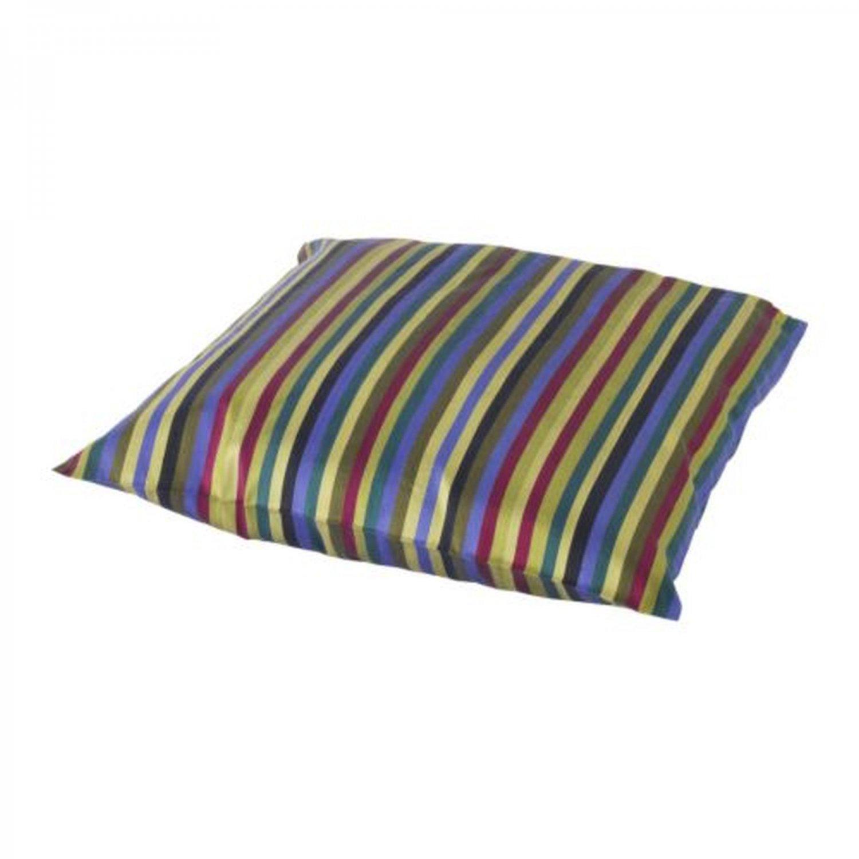 "IKEA Hanna Rand CUSHION COVER Pillow Sham MULTICOLOR 20"" x 20"" Stripes SILK"