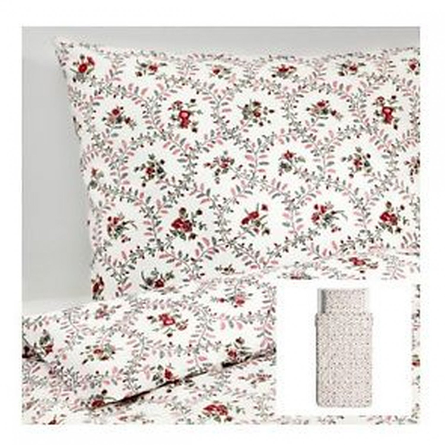 Ikea Hallrot Twin Duvet Cover And Pillowcase Set Floral
