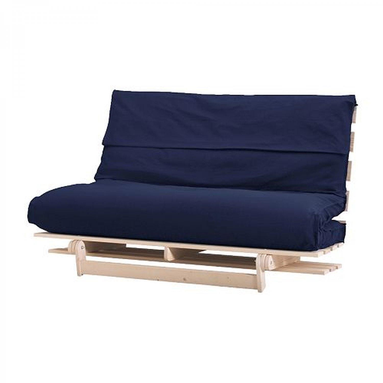 Ikea Massum Fliken Futon Sofa Slipcover Cover Dark Blue