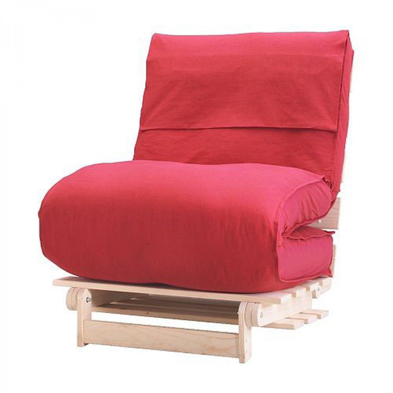 Ikea Munkarp Fliken Futon Chair Slipcover Cover Lenda Dark Red